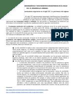 Tema 08.1.- Evolución demográfica y movimientos migratorios en el siglo XIX. El desarrollo urbano