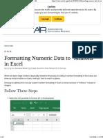 Excel Custom Formatting Numbers