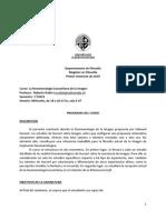 Mag Fil - Fenomenologia Husserliana de La Imagen 2019 - Programa