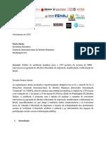 Solicitação de Audiência Temática ao CIDH/OEA