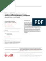 Stratégies d'intégration, régulation et moteur d'implantation de changement_Fleury_2002