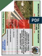 cartel de obra puente