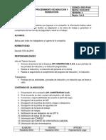 SISO-P-001 PROCEDIMIENTO DE INDUCCIÓN Y REINDUCCIÓN