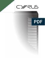 Cyrus DAC XP Signature Handbook En