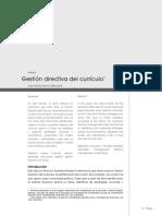 Gestion directiva del curriculo
