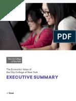 EMSI CCNY Economic Impact Report Executive Summary