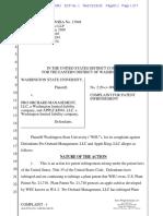 WSU Apple Patent Suit