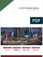 K-pop Square Media Kit DOOH LED signage