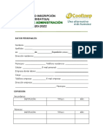 Inscripción Para Candidatura Consejo de Administración 2020