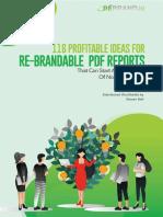 116 Profitable Ideas for Re-Brandable PDF Reports