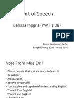 Week 2 - Part of Speech (Noun, Pronoun, Verb, Adjective)