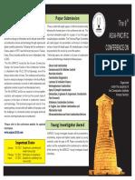 2013 9th ASPACC brochure