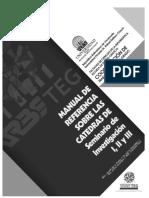 Version PENSUM NUEVO_MANUAL DE REFERENCIA SOBRE LAS CATEDRAS DE SEMINARIO DE INVESTIGACION I-II-III.pdf