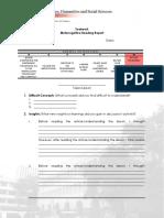 Metacognitive report format