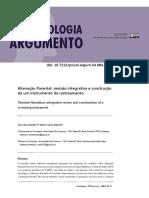 Alienação Parental - revisão integrativa e construção de um instrumento de rastreamento