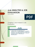 JOB ANALYSIS & JOB EVALUATION