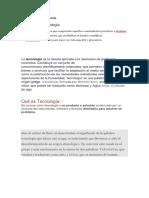 DEFINICIONES DE TECNOLOGÍA