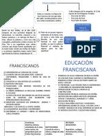 EDUCACION FRANCISCANA