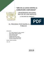 PROCESOS EN RAZON DE FUNCIONARIOS PUBLICOS