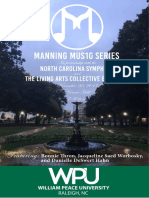 Manning Concert Series Fall 2017 Concert Program
