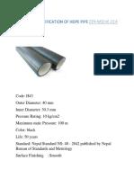 74 014 Samir HDPE pipe