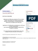 Aplicación de lidocaína simple al 2% en tejido celular subcutáneo de heridas quirúrgicas limpias-contaminadas y contaminadas para disminuir la incidencia de infección