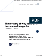 The mystery of why some people become sudden geniuses
