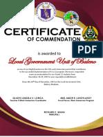 certificate wi2019