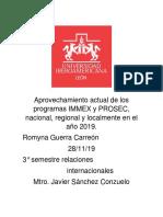 Aprovechamiento actual de los programas IMMEX y PROSEC el bueno.docx