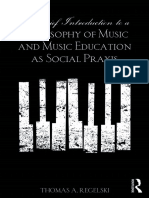 Regelski, Thomas A., A Brief Introduction to a Philosophy of Music and Music Education as Social Praxis
