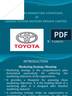 A STUDY ON MARKETING STRATEGIES