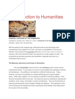 Introduction to Humanities