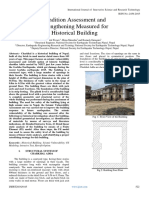 Condition Assessment and Strengthening Measured for Historical Building
