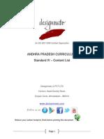 Eureka.in Andhra Pradesh 7.3 STD_IV Content List