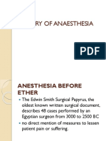HISTORY OF ANAESTHESIA