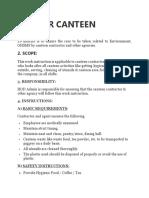 OCP FOR CANTEEN