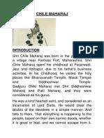 Chile Maharaj - Written by R.HARISHANKAR