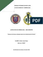 Glosario de términos utilizados dentro de la Administración Policial