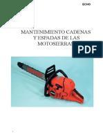 Manual ECHO Motosierras y Afilado cadenas