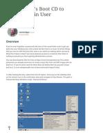Using Hiren's Boot CD to Create Admin User Accounts