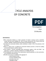 life cycle of concrete