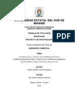 """""""INCIDENCIA DE LA CADENA DE INTERMEDIACIÓN EN LA"""