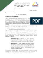 VALORACIÓN  juridica examen de la cuenta año 2019