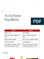 CHEM 18 Acid-Base Equilibria