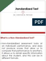 Non-Standardized Test