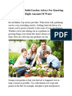 Kit Carl Klehm Solid Garden Advice for Knowing the Right Amount of Water