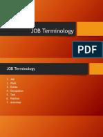 JOB Terminology