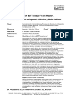 RTFM Caracterización hidrodinámica y procesos de mezcla en un depósito de agua potable mediante técnicas de dinámica de fluidos computacional (CFD). 2011
