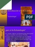 Eclesiologia Introduccion