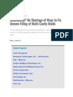 Unbalanced_ No Shortage of Ways to Fix Uneven Filling of Multi-Cavity Molds _ Plastics Technology.pdf